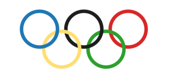 The Olympic rings as drawn by Tableau - Olympic PNG