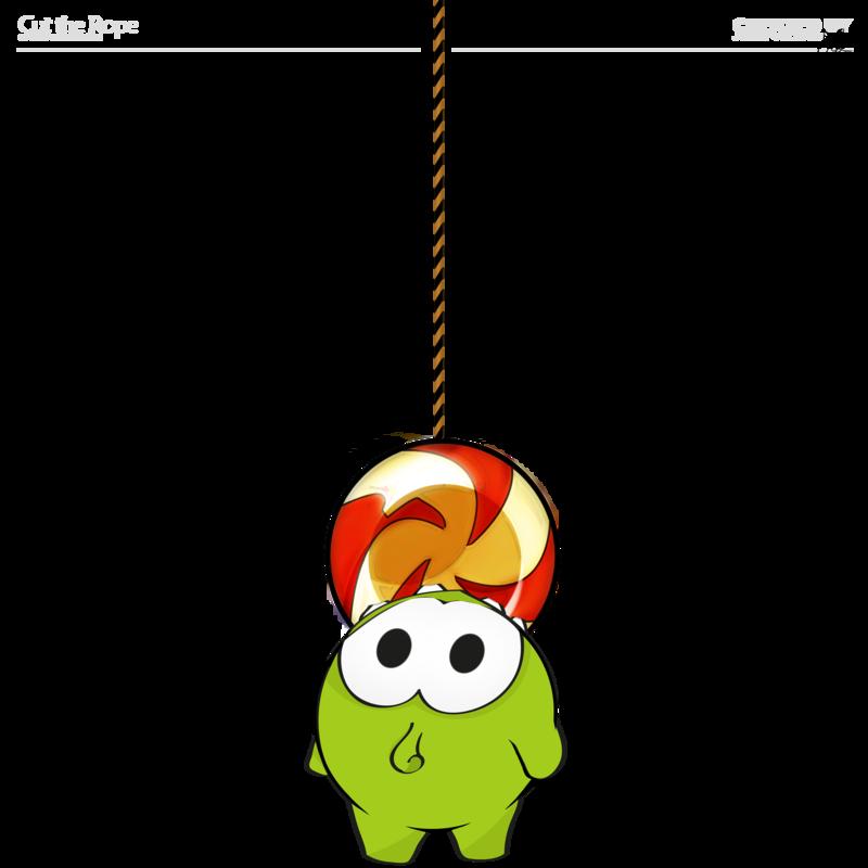 Hanging Om Nom by zsoltott PlusPng.com  - Om Nom PNG
