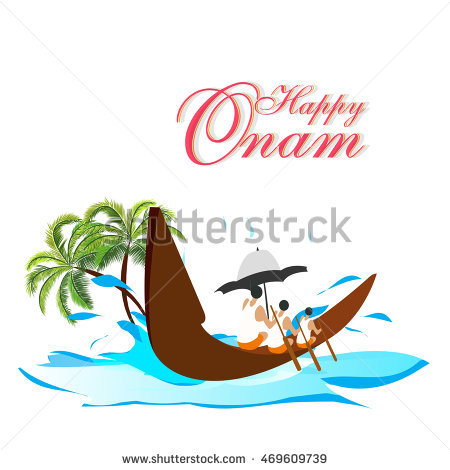 creative vector abstract for Onam Festival with nice and beautiful design  illustration in a background. - Onam Boat PNG