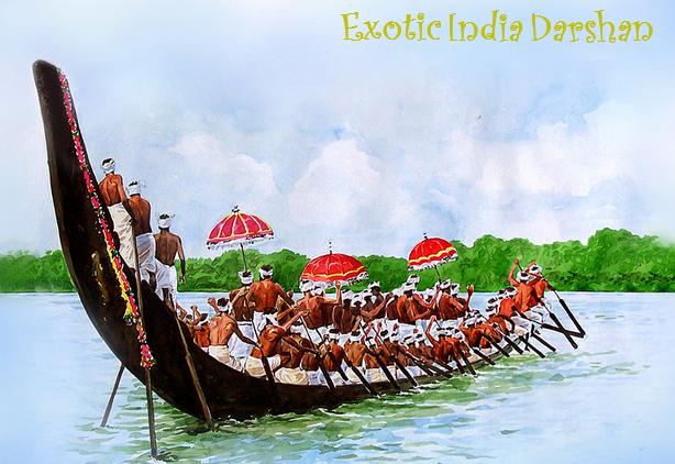 Boat race in Kerala - Onam Festival Boat Race PNG