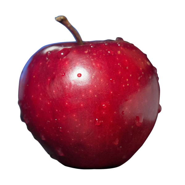 Fruit Red Apple Transparent Image Number One - One Apple PNG