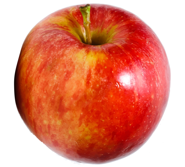 Fruit Red Apple Transparent Image Number Two - One Apple PNG
