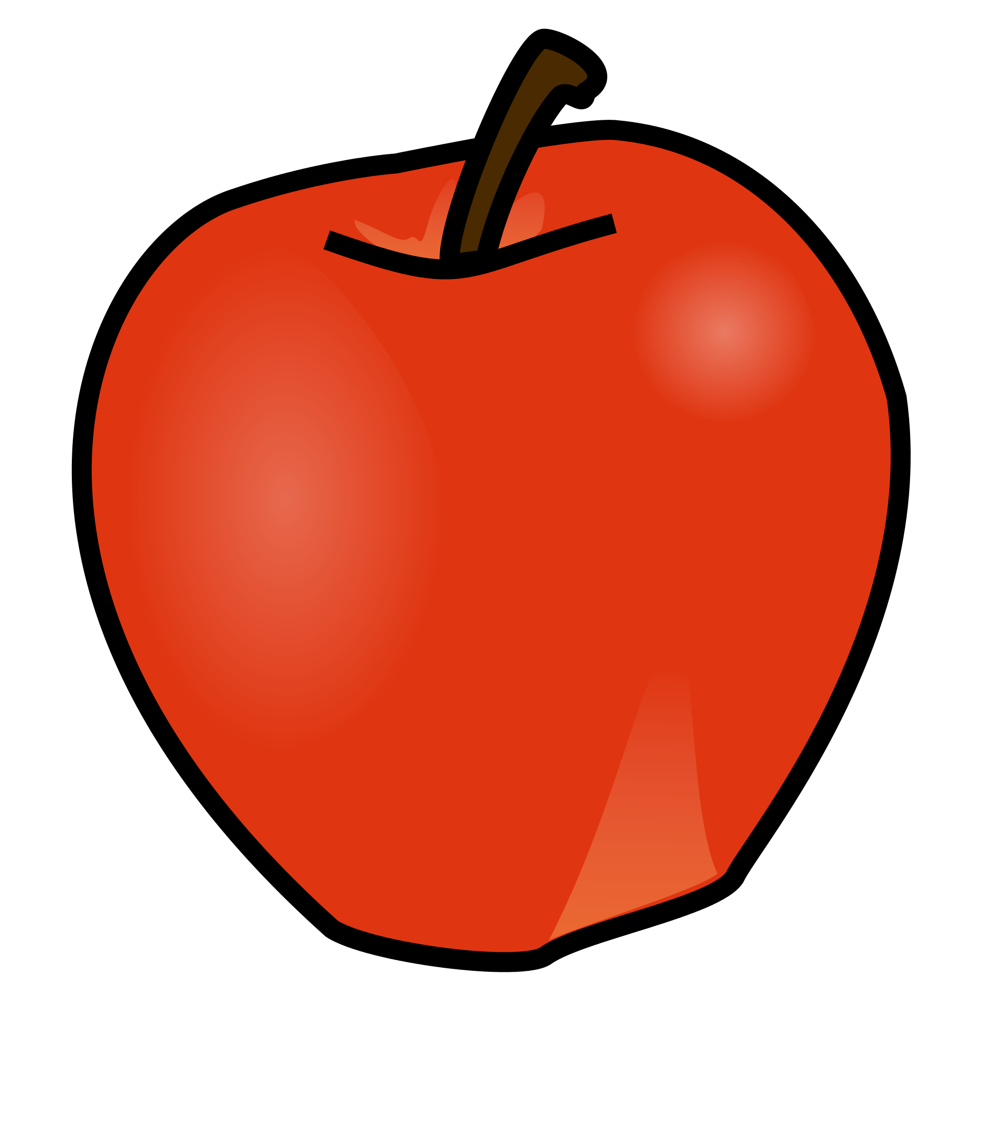Open PlusPng.com  - One Apple PNG