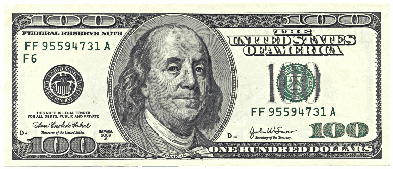 Dollar bill clip art image - One Dollar Bill PNG