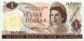 File:NZ One Dollar bill.png - One Dollar Bill PNG