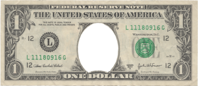 oNe doLLar biLL PSD - One Dollar Bill PNG