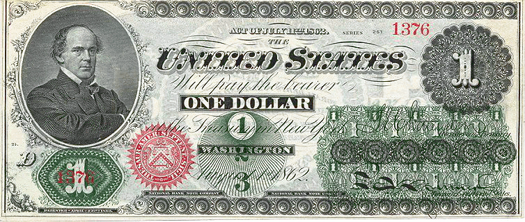 one dollar bill US first ever 1862 -  /money/US_Currency/US_currency_large/one_dollar_bill_US_first_ever_1862.png .html - One Dollar Bill PNG