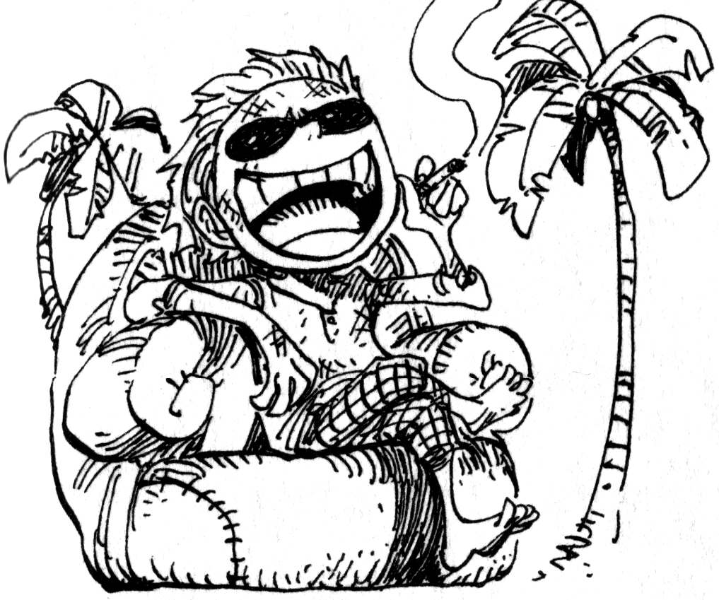 Doflamingo as Child.png - One Kid PNG Black And White