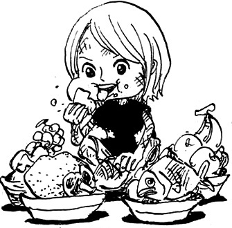 Jewelry Bonney as a Child.png - One Kid PNG Black And White