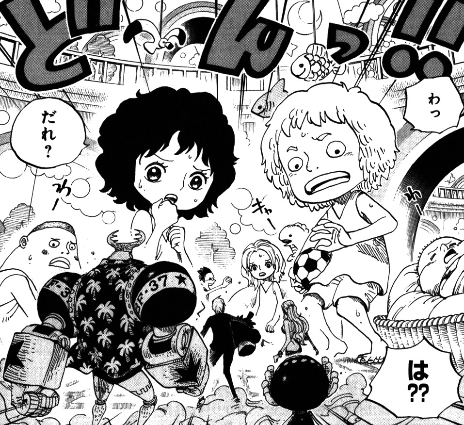Straw Hats Encounter Kids on Punk Hazard.png - One Kid PNG Black And White