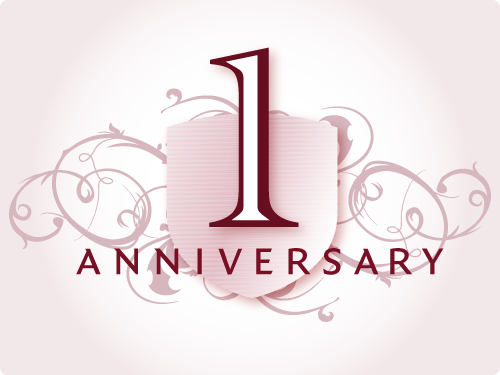 One Year Anniversary PNG - 167887