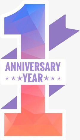 One Year Anniversary PNG - 167884