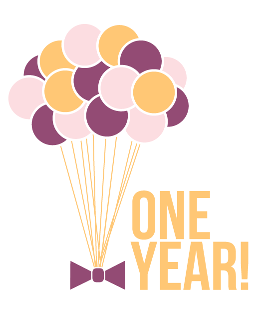 One Year Anniversary PNG - 167883