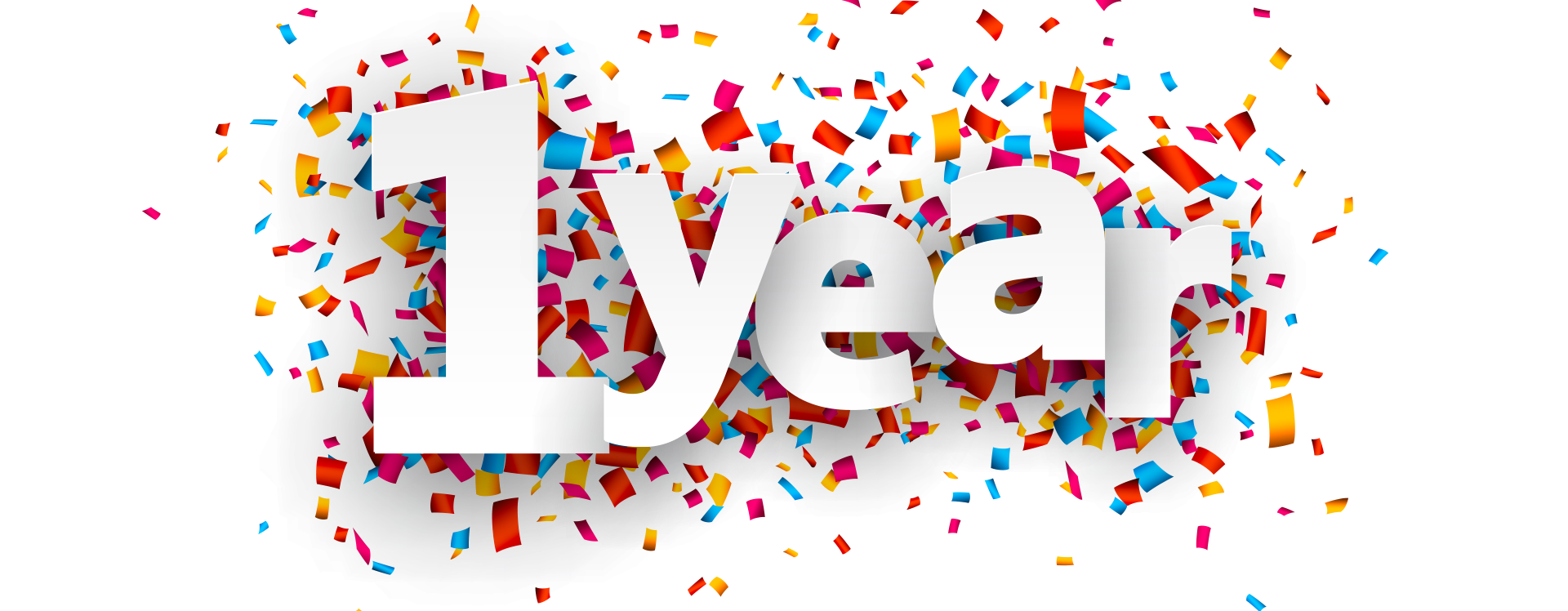 One Year Anniversary PNG - 167877