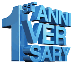 One Year Anniversary PNG - 167892