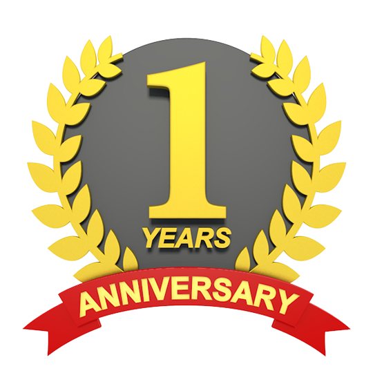One Year Anniversary PNG - 167881