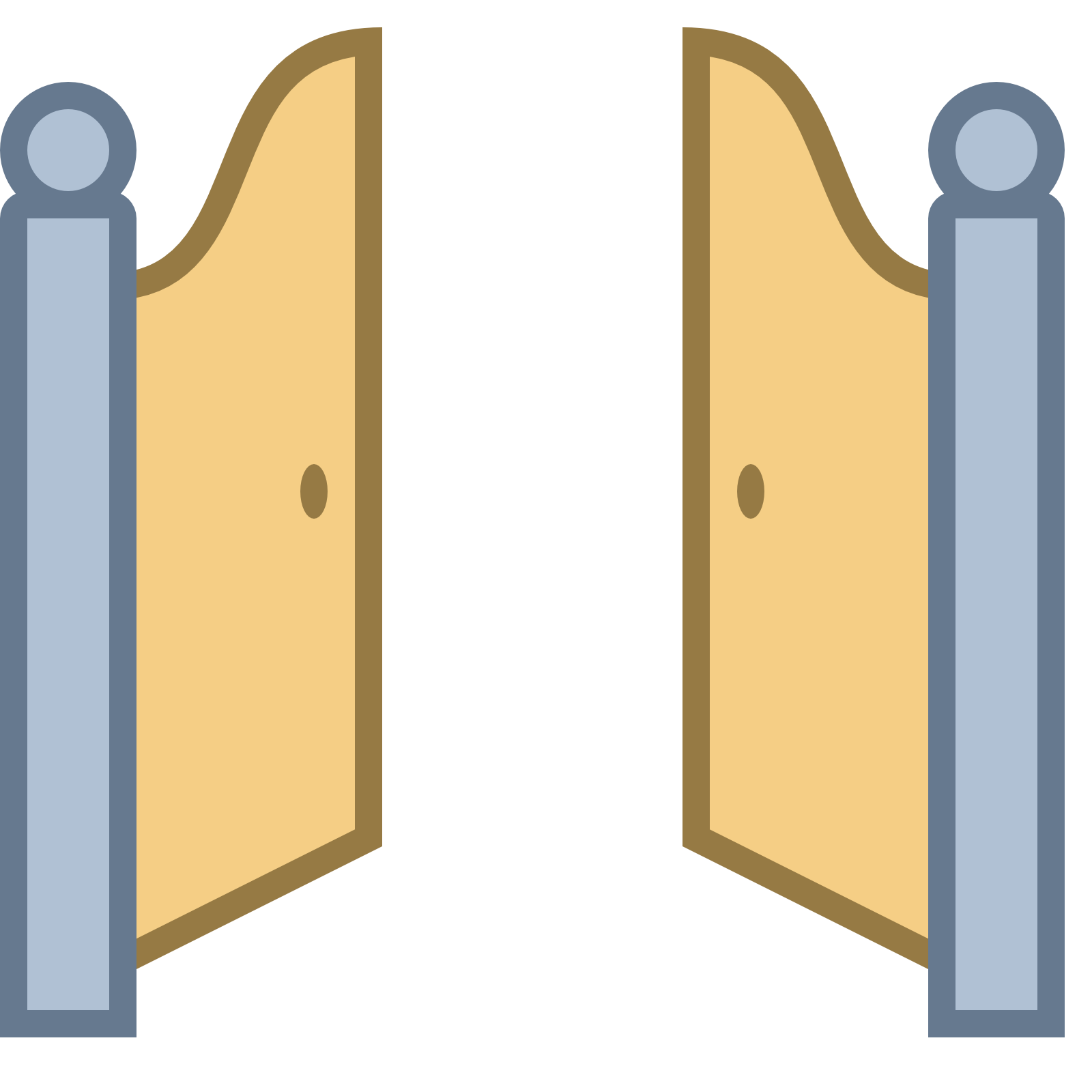 Front Gate Open Icon Free Download At Icons8 This Is A Picture Of Two Doors  Almost Like Saloon That Are Opening - Open Gate PNG
