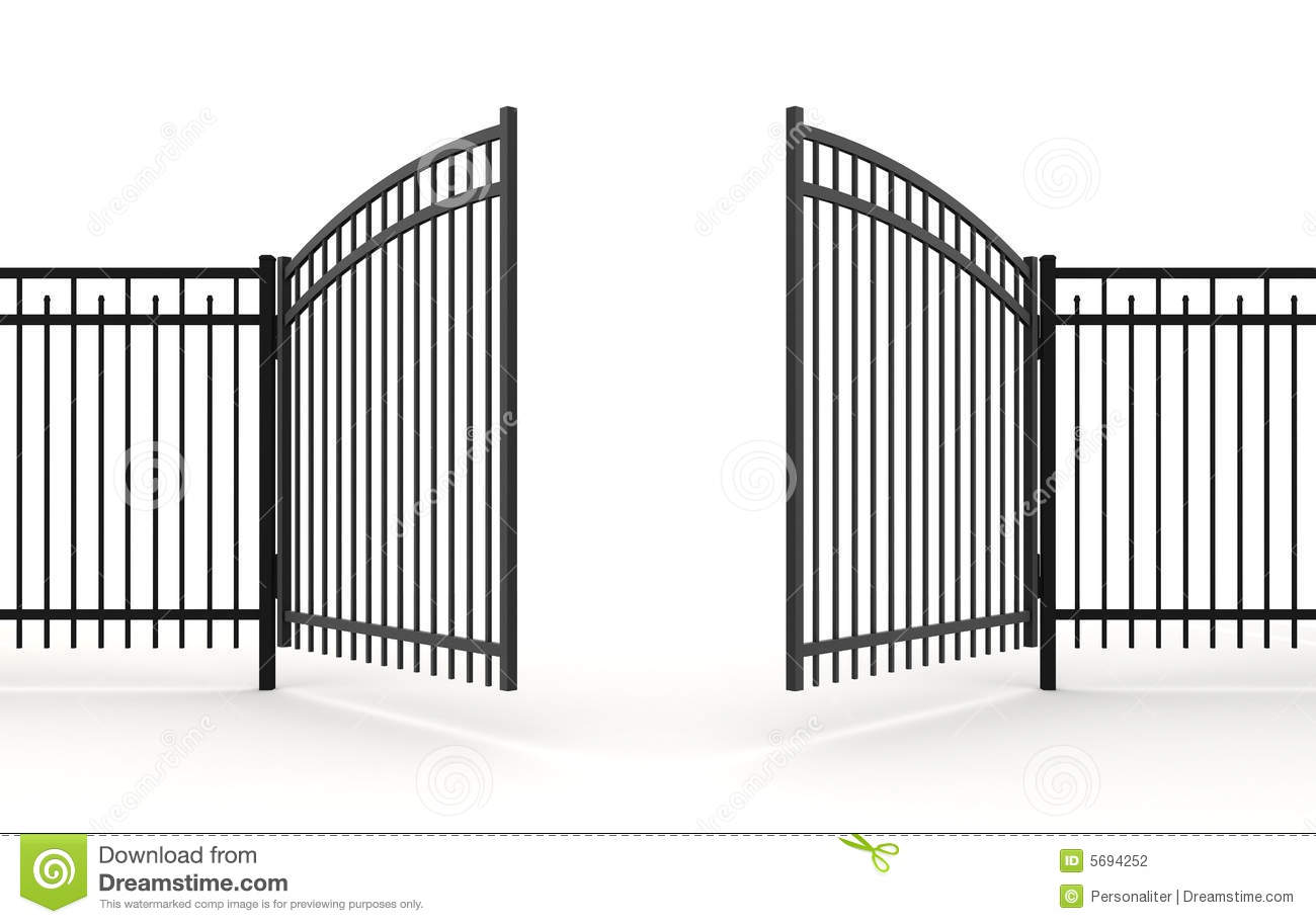 Gate clipart house gate #8 - Open Gate PNG