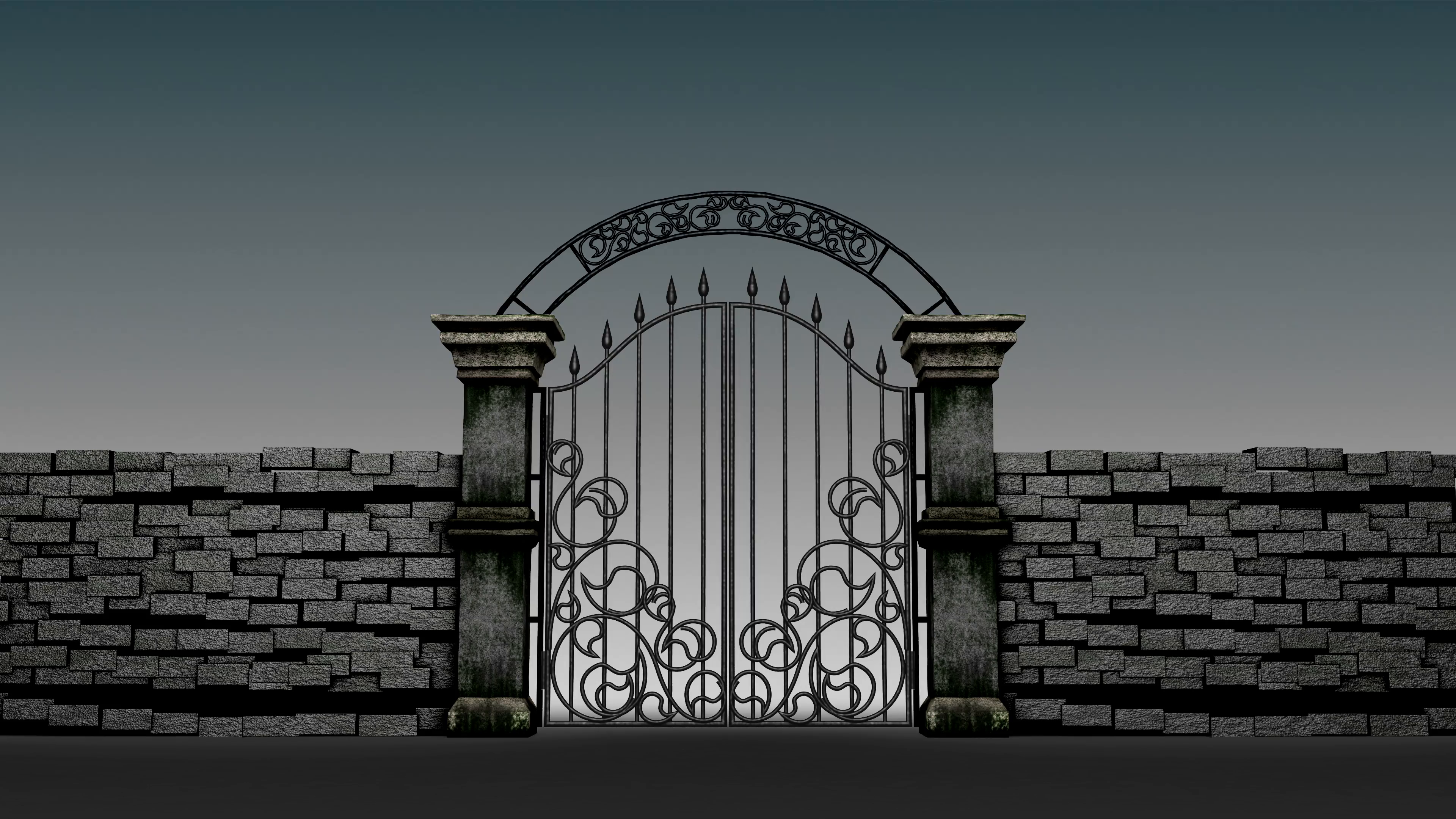 Gothic gates open on gloomy background, 3D animation Stock Video Footage -  VideoBlocks - Open Gate PNG