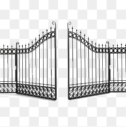 iron gate, Fence, Villa, Open PNG Image - Open Gate PNG