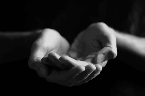 Bookmark PlusPng.com  - Open Giving Hands PNG