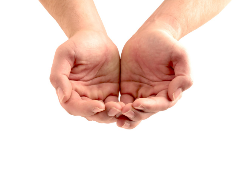 Hands From Google - Open Giving Hands PNG