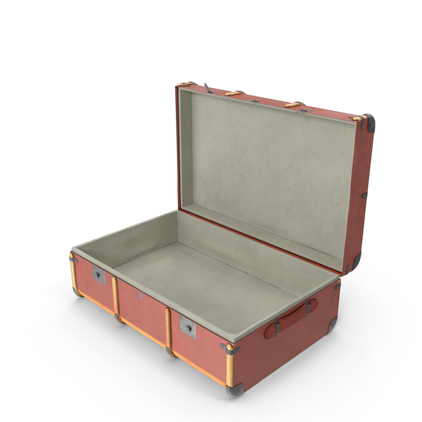 Steamer Trunk - Open Suitcase PNG HD