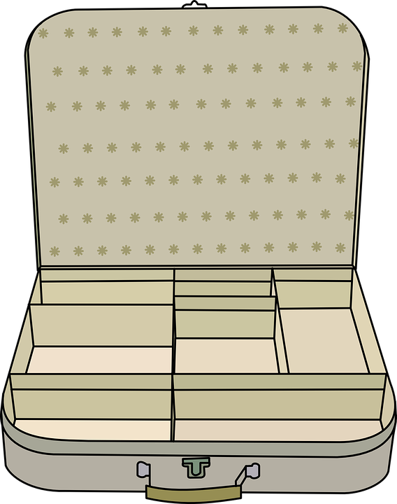 Suitcase, Compartment, Open, Empty, Trip, Travel - Open Suitcase PNG HD
