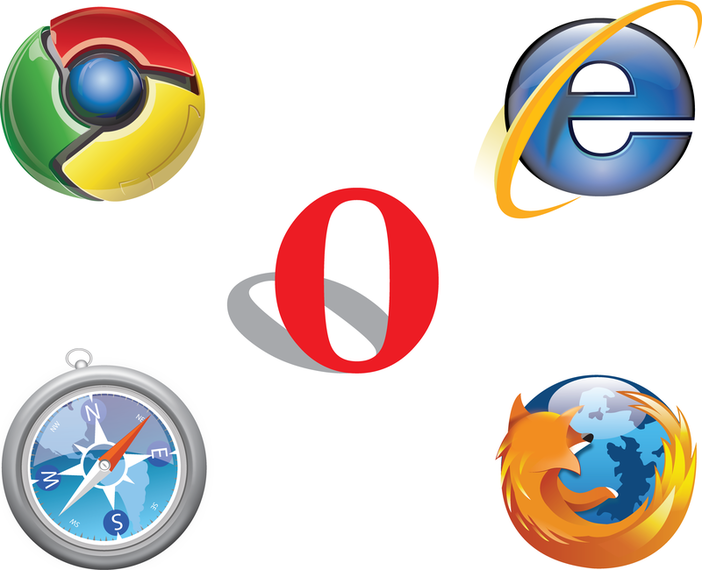 Free Ie Chrome Firefox Safari Opera Logo Vector - Opera Logo Vector PNG