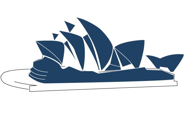 Sydney Opera House Line Art V