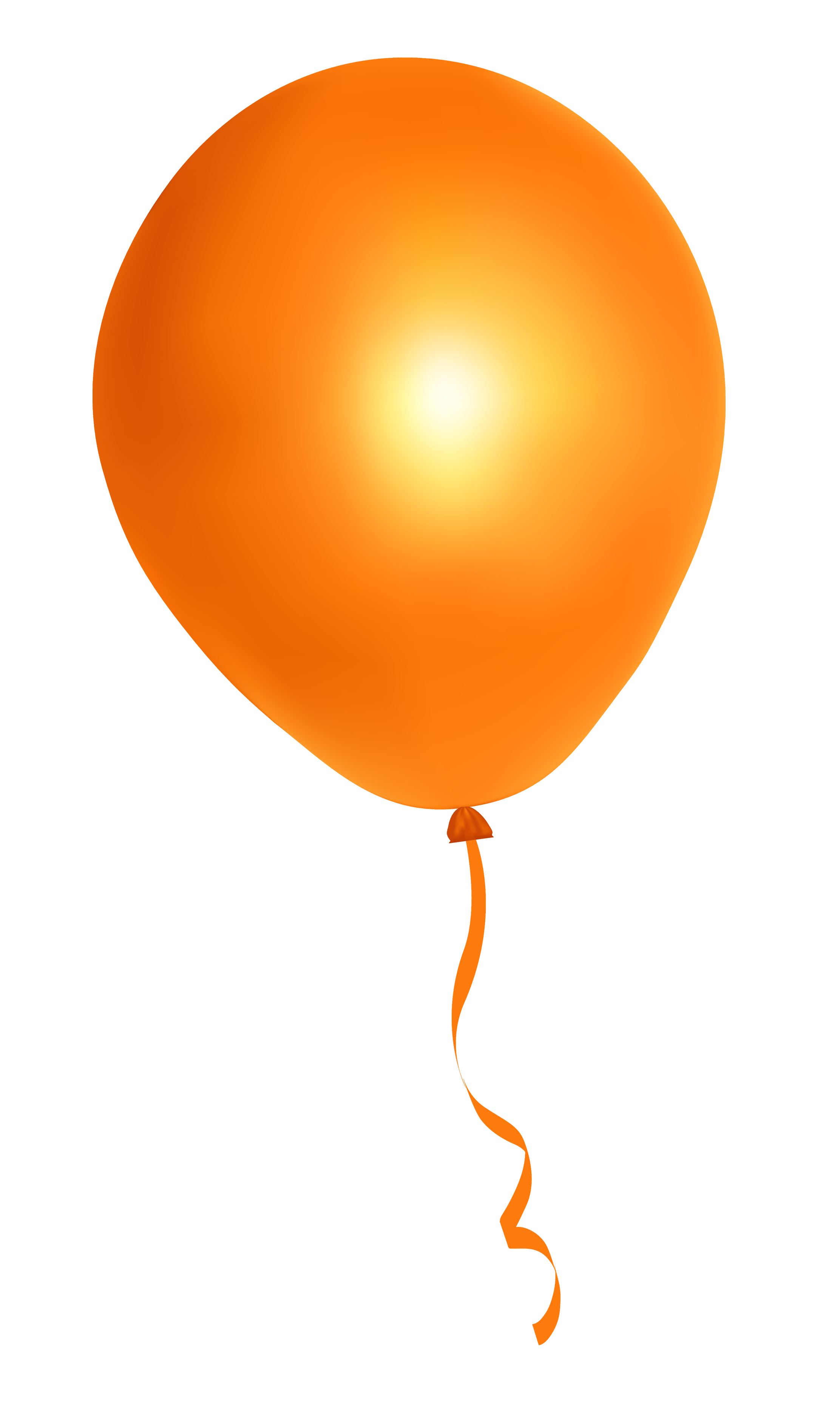 Orange Balloon PNG image - Balloon PNG