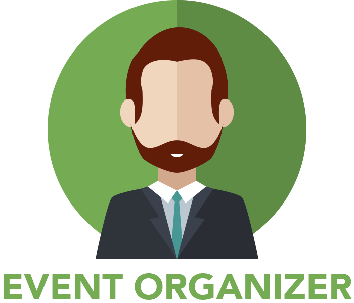 Are you an Event-goer or an Event Organizer / Venue Owner? - Organisers PNG
