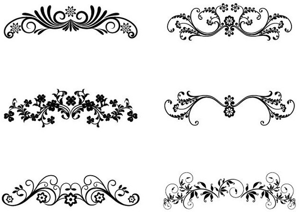 Vector Floral Ornamental Design Elements - Ornamente Vorlagen Kostenlos PNG