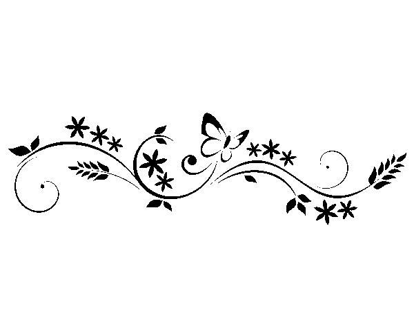 Wandtattoo Ornament Frühling - Ornamente Vorlagen Kostenlos PNG