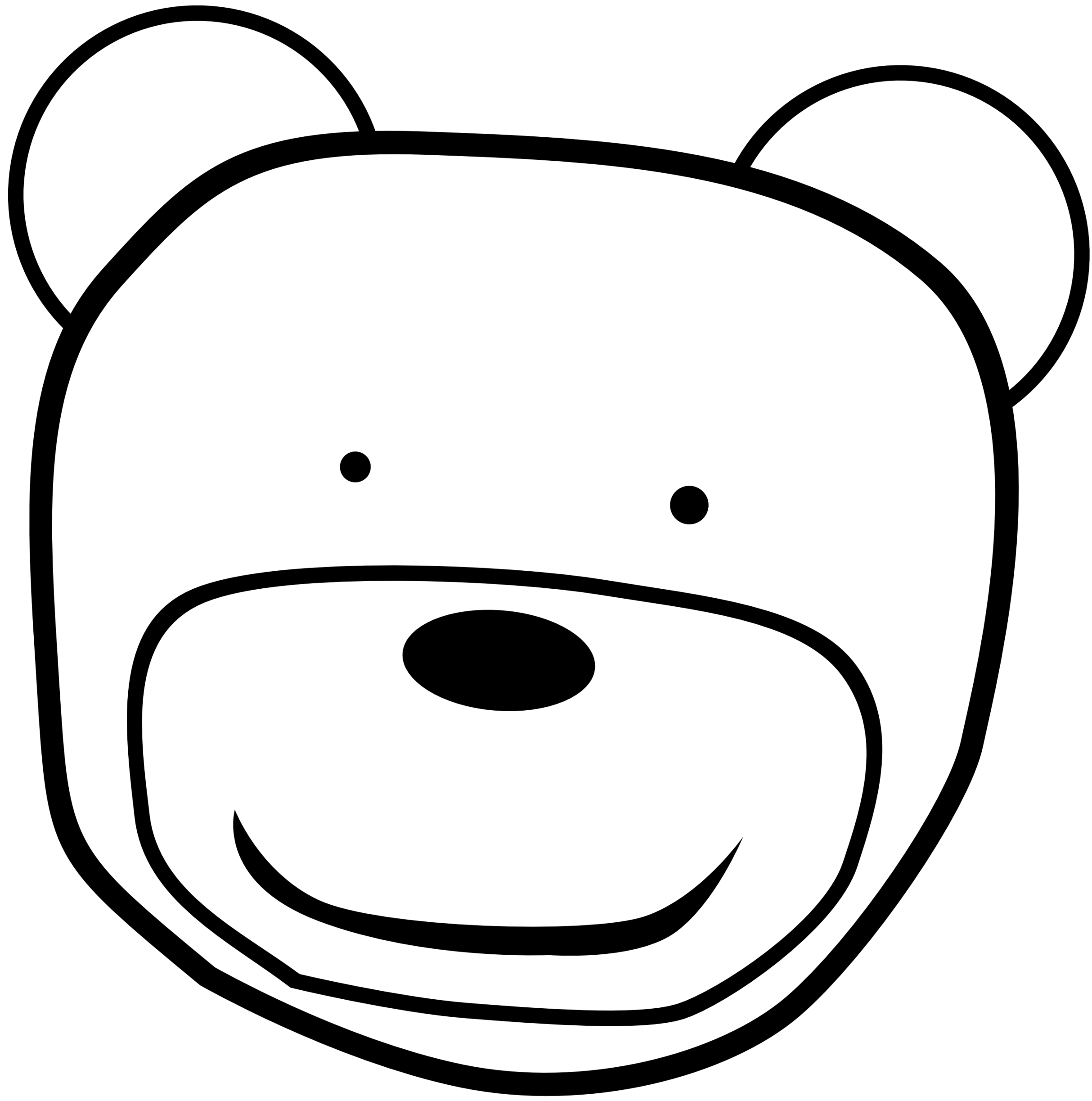 Black - Oso PNG Black And White