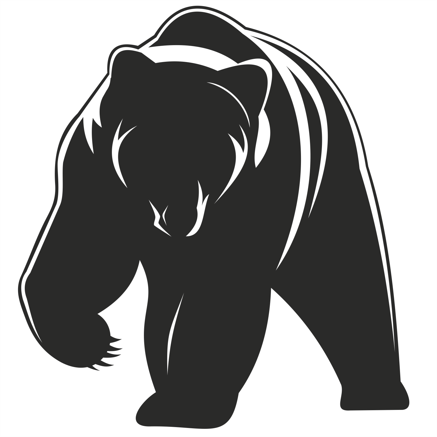 Craft - Oso PNG Black And White