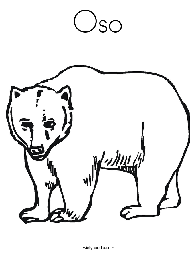 Oso Coloring Page. - Oso PNG Black And White