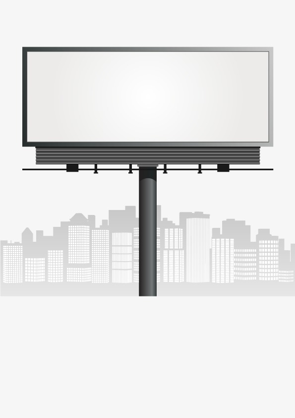 Vector outdoor billboard, HD, Vector, Gray Free PNG and Vector - Outdoor PNG HD