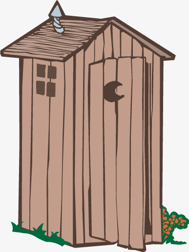 Cartoon house vector wood, Houses, Wood, Vector House Free PNG and Vector - Outhouse PNG HD