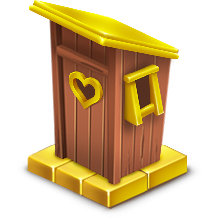 File:Golden Outhouse.png - Outhouse PNG HD