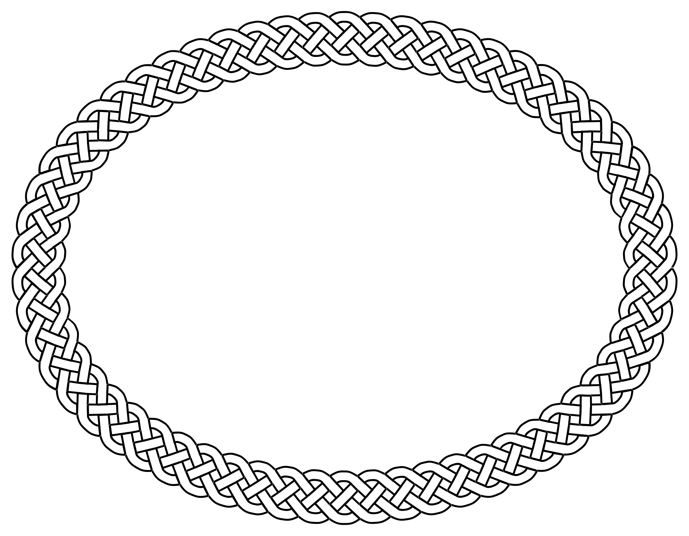 BIG IMAGE (PNG) - Oval PNG Black And White