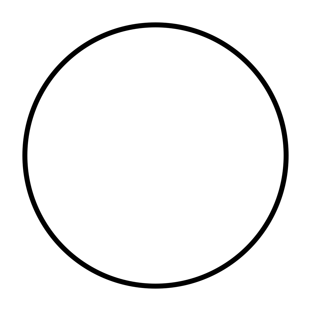Open PlusPng.com  - Oval PNG Black And White