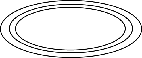 Oval Black And White Clipart - Oval PNG Black And White