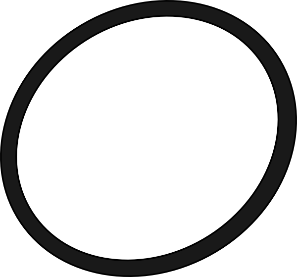 PNG: small · medium · large - Oval PNG Black And White