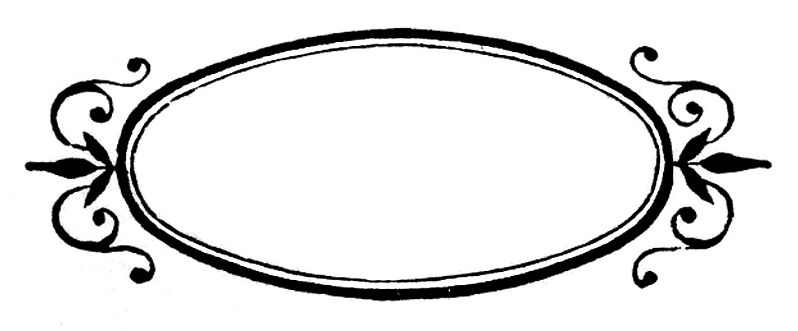 Oval PNG Black And White - 73291