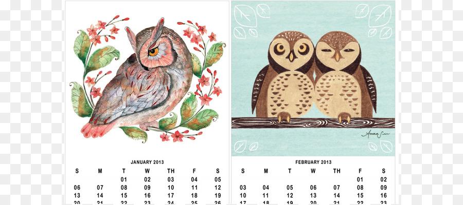 Barn owl Calendar Bird Illustration - 9 December Calendar Cliparts - Owl Calendar PNG