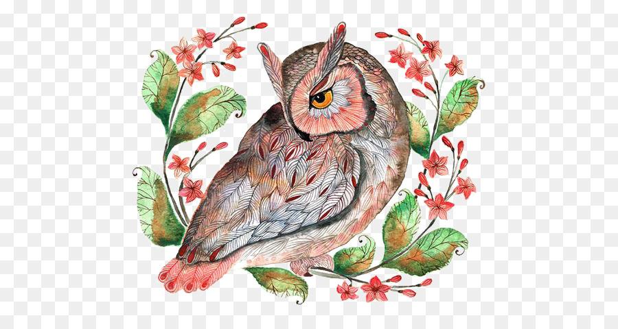 Barn owl Calendar December Illustration - owl - Owl Calendar PNG