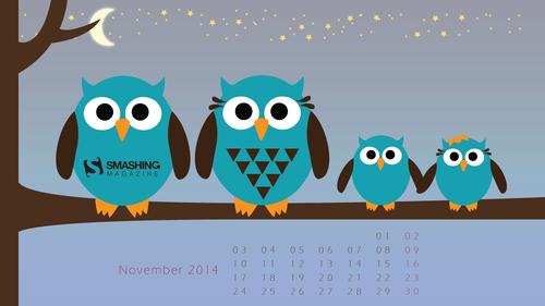 Creative - Owl Calendar PNG