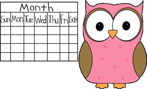 Owl Classroom Calendar Job - Owl Calendar PNG