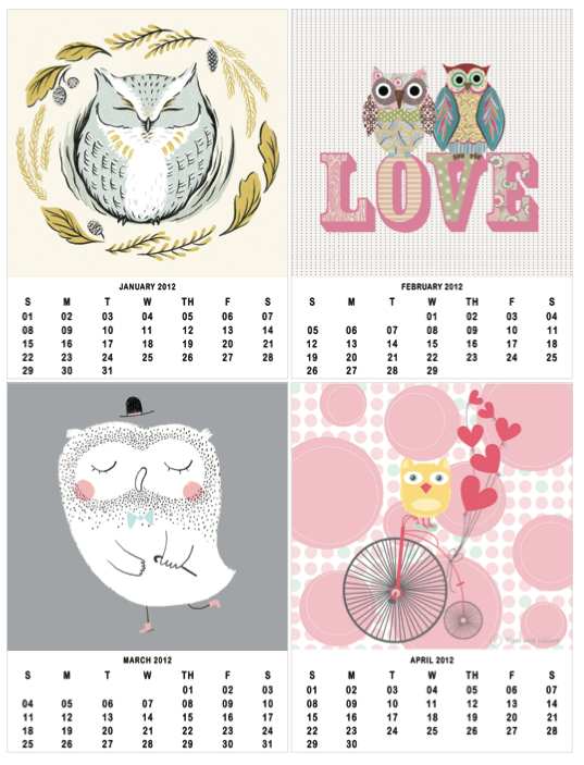 printable owl calendar - Owl Calendar PNG